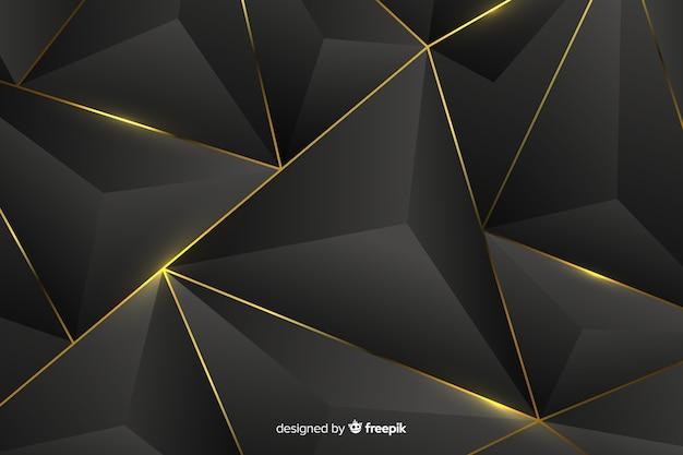 Sfondo scuro con forme astratte dorate Vettore gratuito