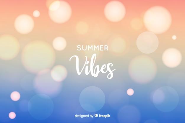 Sfondo sfocato estate estate Vettore gratuito