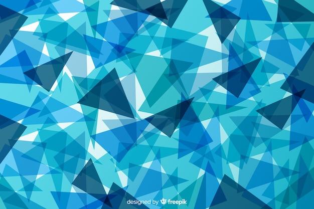 Sfondo sfumato astratto forme blu Vettore gratuito