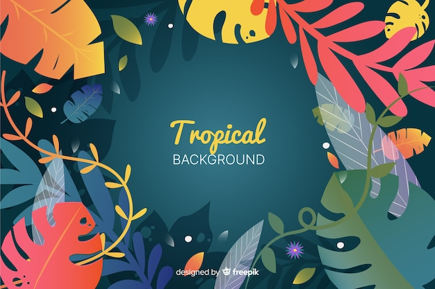 Sfondo sfumato tropicale Vettore gratuito