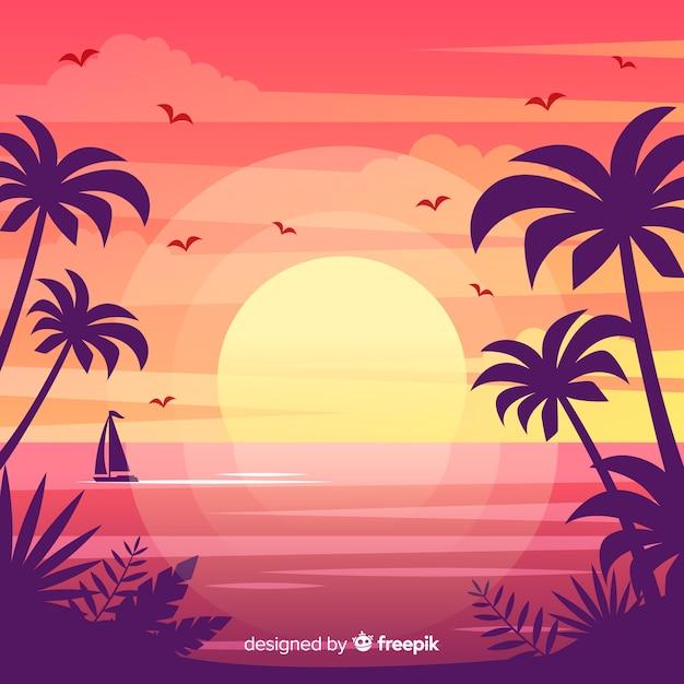 Sfondo spiaggia Vettore gratuito