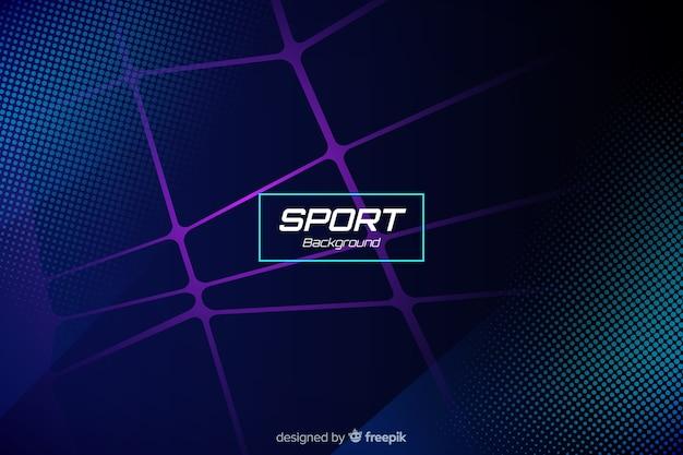 Sfondo sport con forme astratte Vettore gratuito