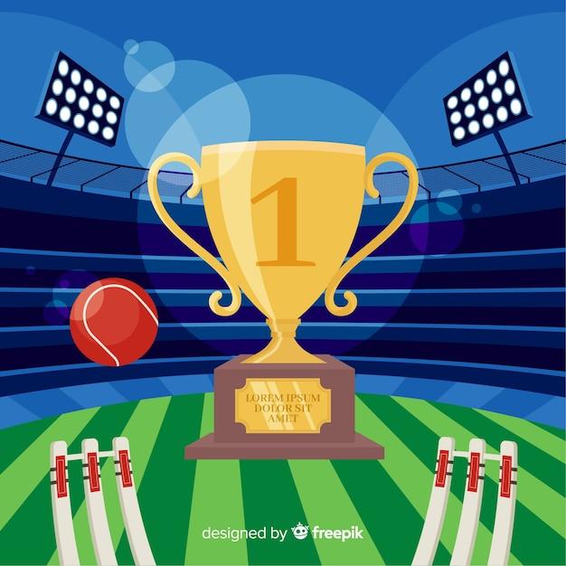 Sfondo stadio di cricket piatto Vettore gratuito