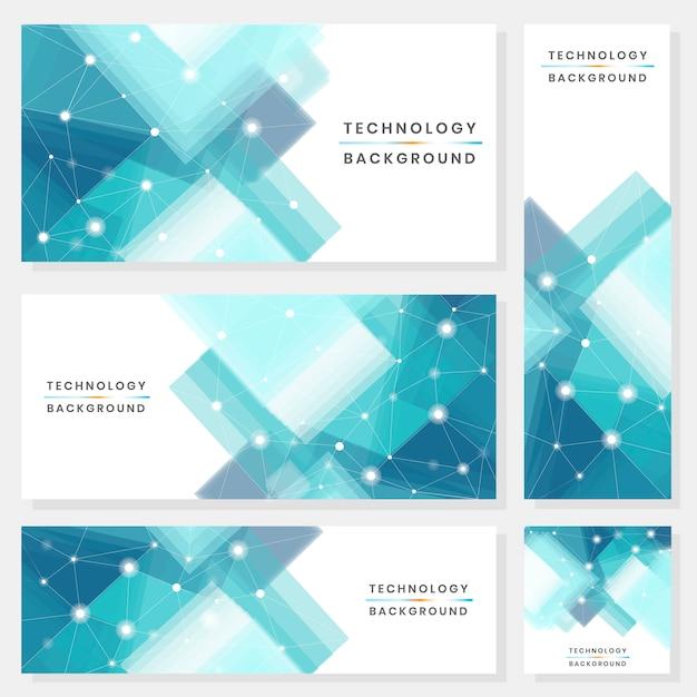 Sfondo tecnologia futuristica blu e bianco Vettore gratuito