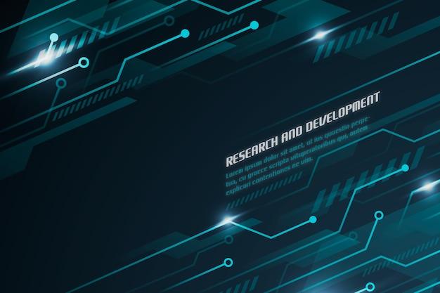 Sfondo tecnologia futuristica con circuiti Vettore gratuito