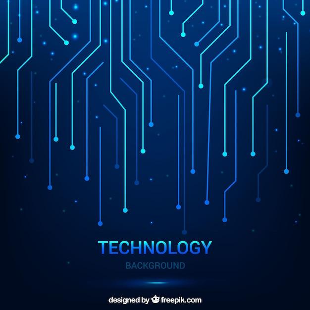 Sfondo tecnologico con linee Vettore gratuito