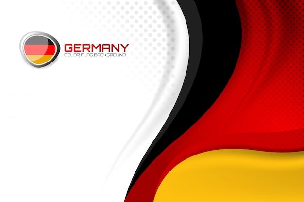 Sfondo tedesco per il giorno della nazione Vettore Premium