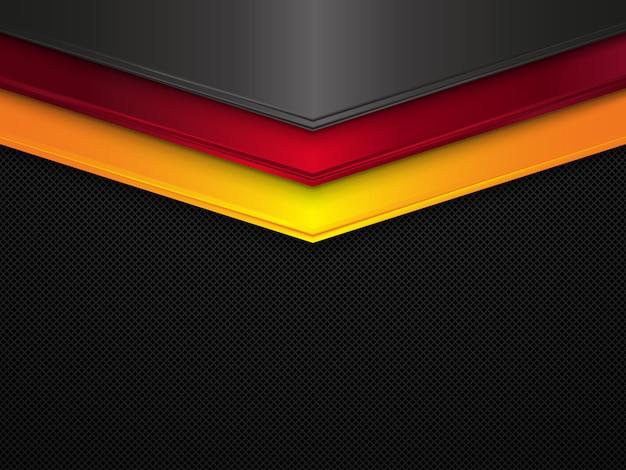 Sfondo texture metallo bandiera germania astratta Vettore Premium