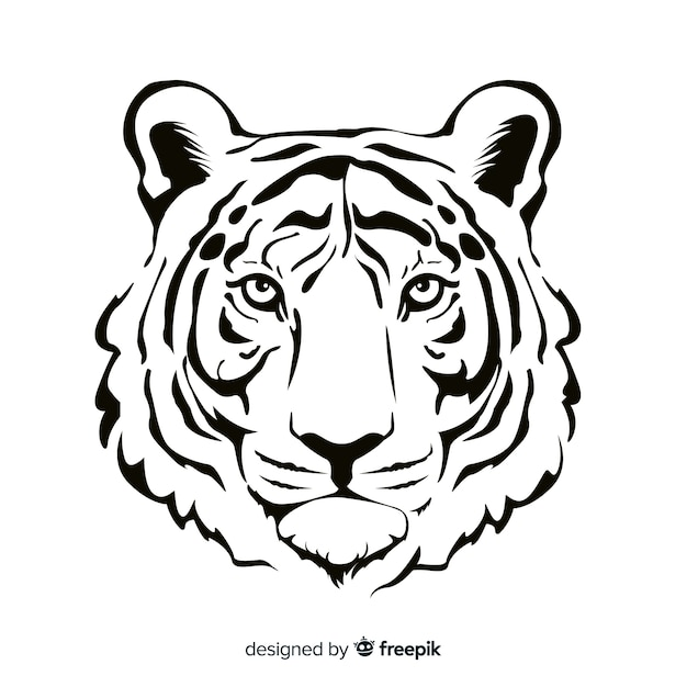 Sfondo tigre realistica Vettore gratuito