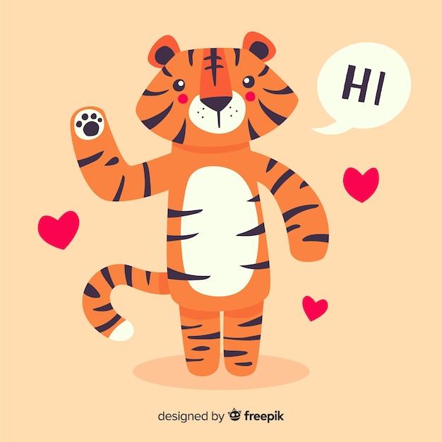 Sfondo tigre Vettore gratuito