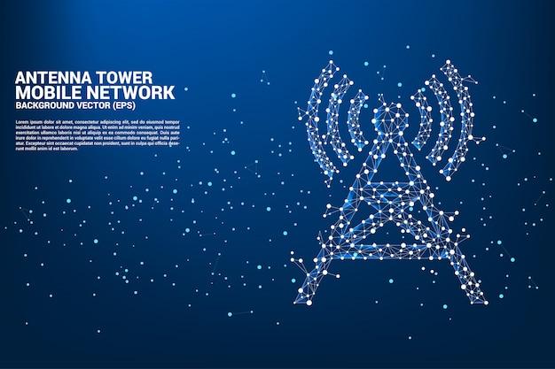 Sfondo torre antenna Vettore Premium