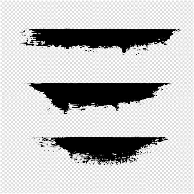 Sfondo trasparente di macchie nere Vettore Premium