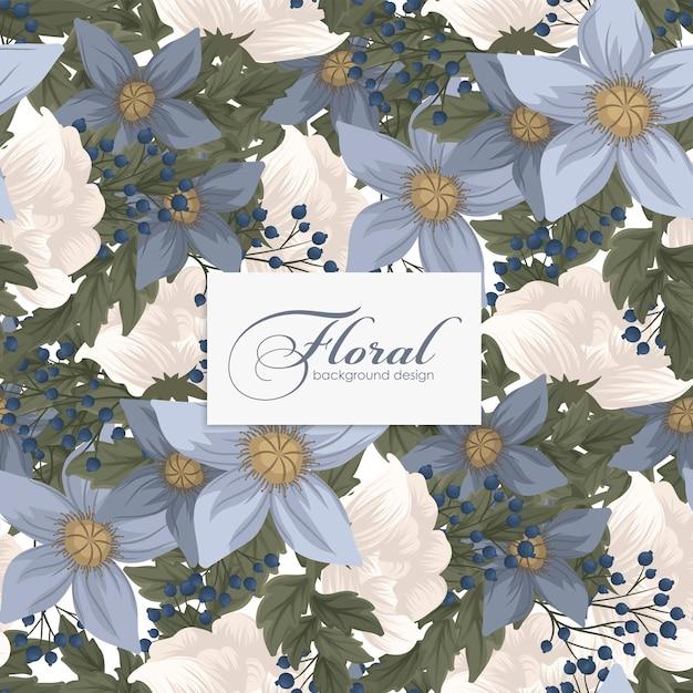 Sfondo trasparente fiore blu chiaro Vettore gratuito
