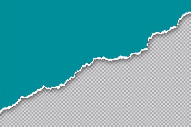 Sfondo trasparente strappato strappato bordo del foglio di carta Vettore gratuito