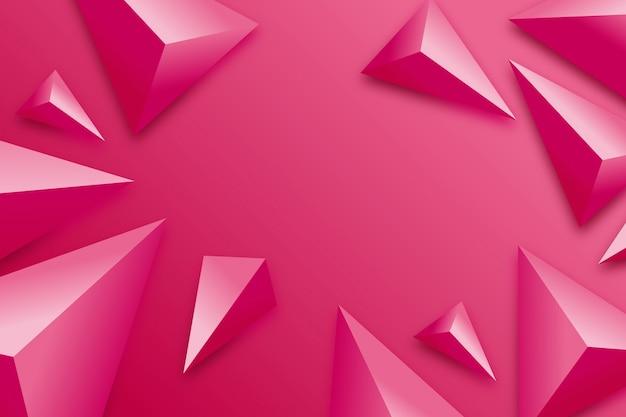 Sfondo triangolo con colori vivaci Vettore gratuito