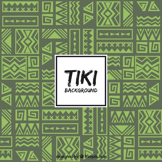 Sfondo tribale con design etnico Vettore gratuito