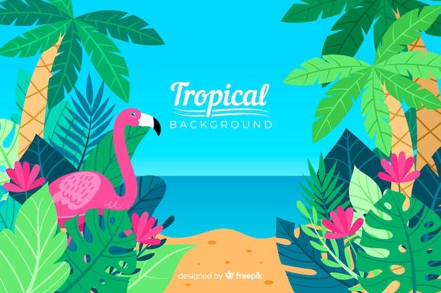 Sfondo tropicale Vettore gratuito