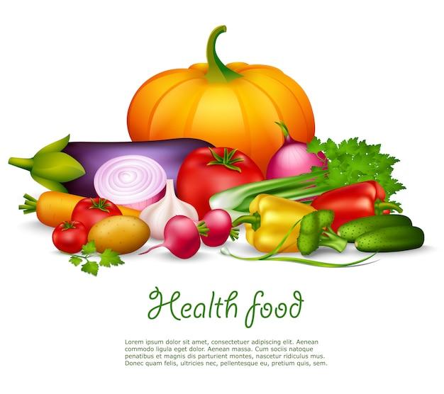 Sfondo vegetale sano Vettore gratuito