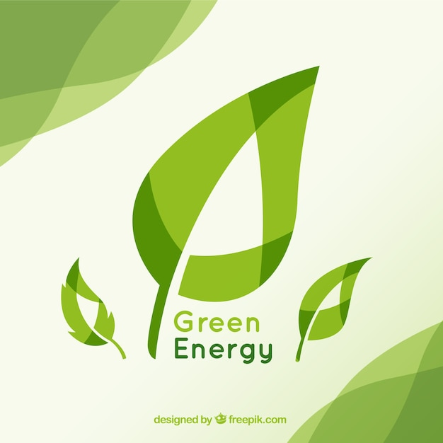Sfondo verde energia Vettore gratuito