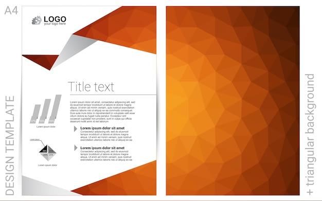 Sfondo vettoriale arancione chiaro per volantini Vettore Premium