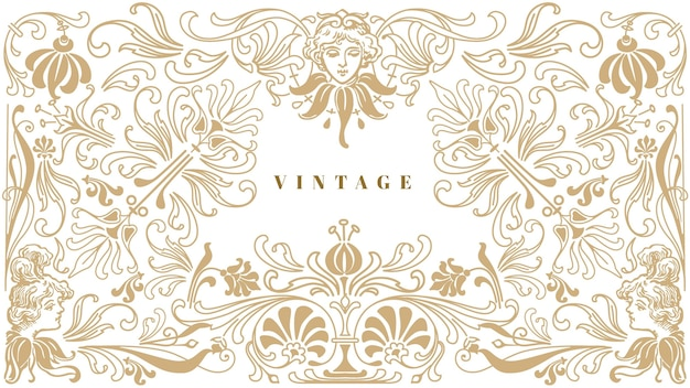 Sfondo vintage ornamentale Vettore gratuito