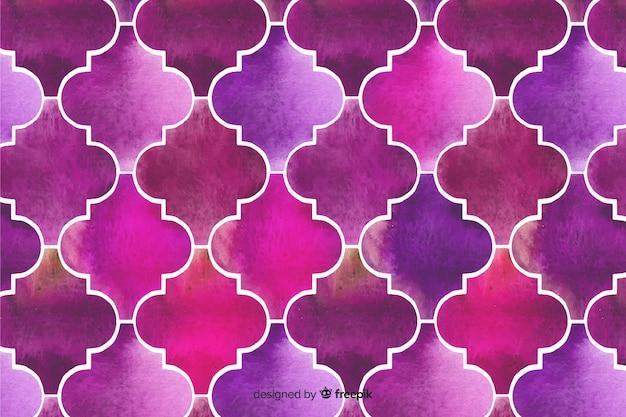 Sfondo viola elegante mosaico ad acquerello Vettore gratuito