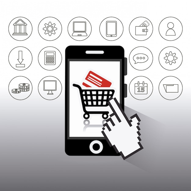 Shopping design. Vettore Premium