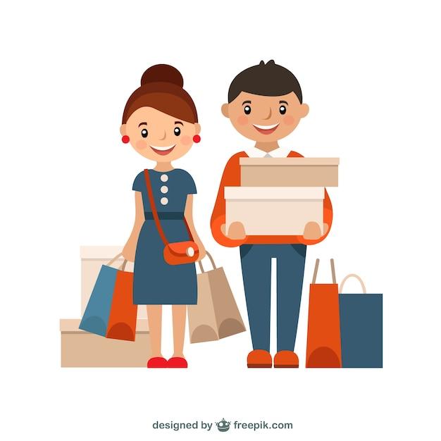 Shopping illustrazione Vettore gratuito