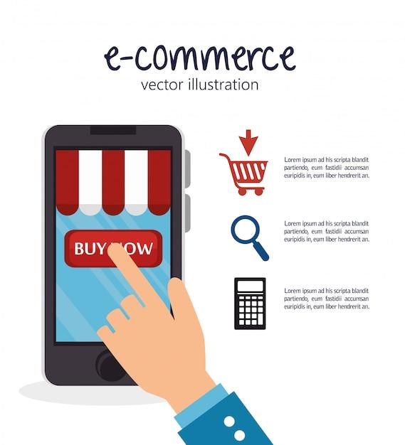 Shopping online design Vettore Premium
