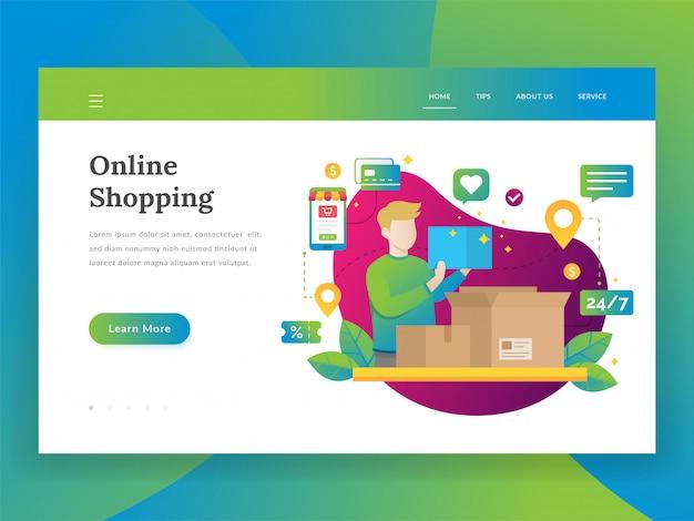 Shopping online, mobile marketing e concetto di acquisto Vettore Premium