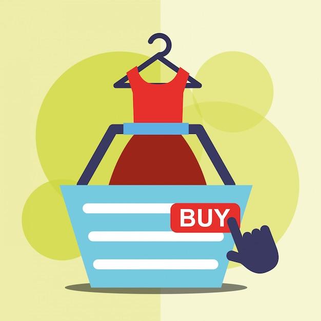 Shopping online Vettore Premium