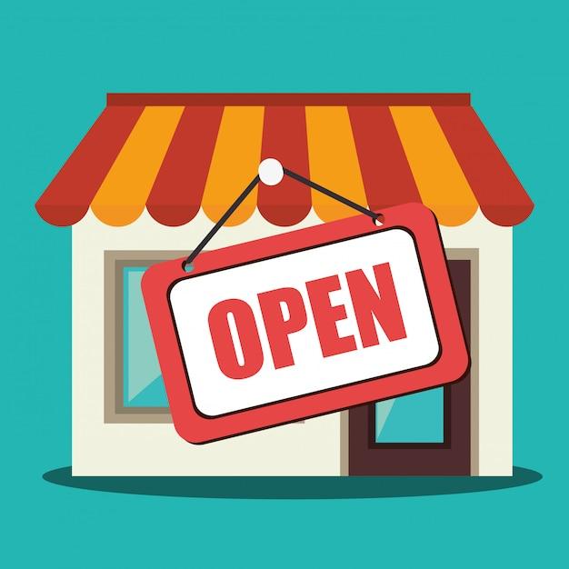 Shopping, vendite ed e-commerce Vettore gratuito