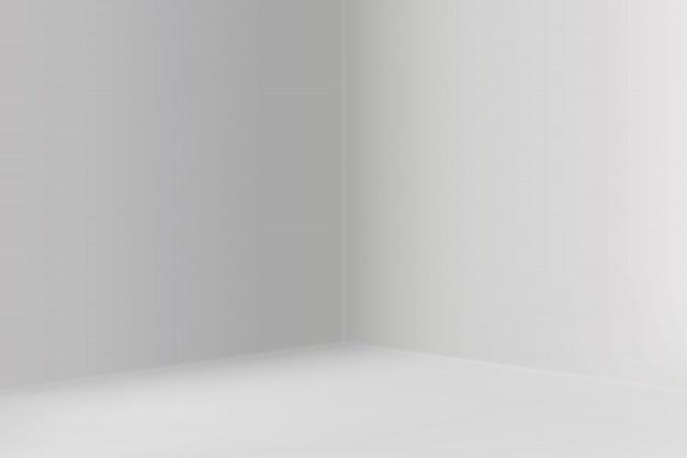 Show room vuota con sfondo angolo quadrato Vettore Premium