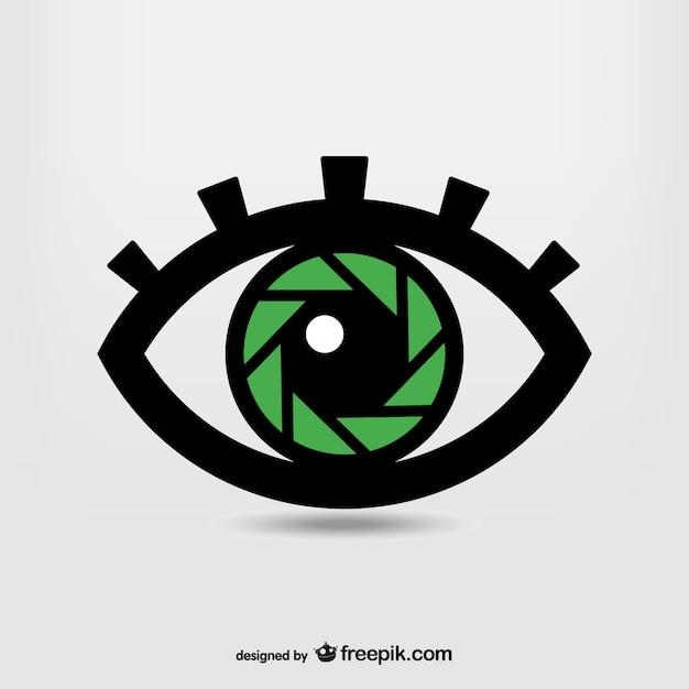 Shutter occhio photography simbolo Vettore gratuito