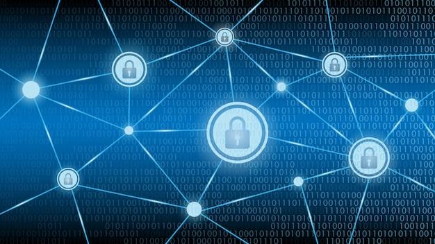 Sicurezza della tecnologia informatica Vettore Premium