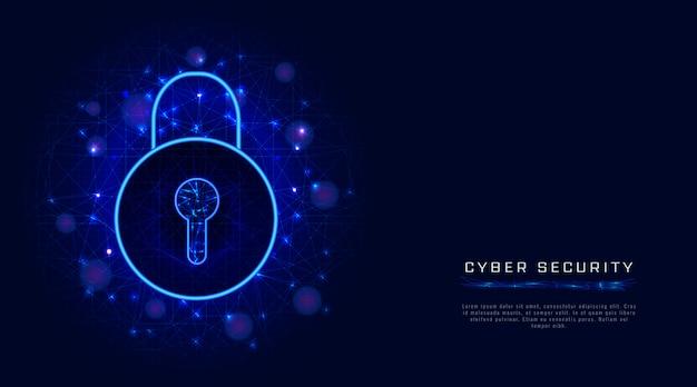 Sicurezza informatica e protezione della privacy dei dati con l'icona del lucchetto. accesso sicuro per autenticazione Vettore Premium