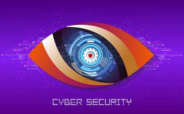 Sicurezza informatica21 Vettore Premium