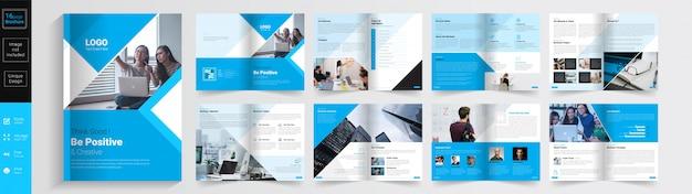 Sii modello di brochure concetto positivo e creativo. Vettore Premium