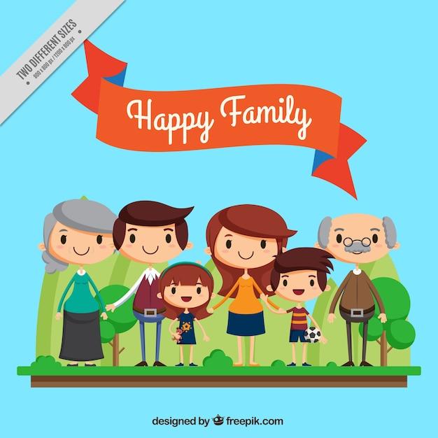 Siimpática E Bella Famiglia Unita Scaricare Vettori Gratis