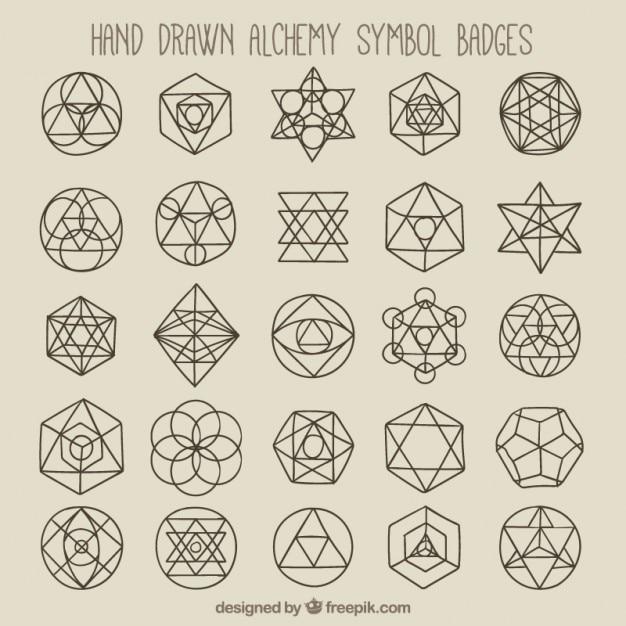 Simboli geometrici e distintivi Vettore gratuito