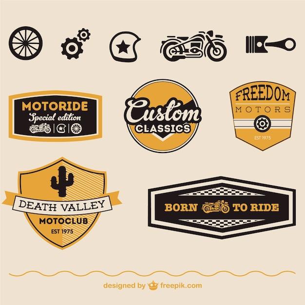 Simboli vettoriali moto libero Vettore gratuito