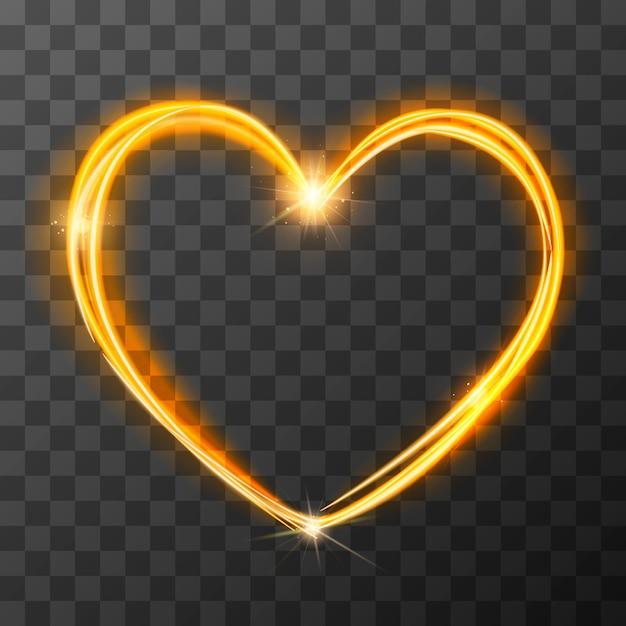Simbolo di amore sfocato al neon Vettore Premium