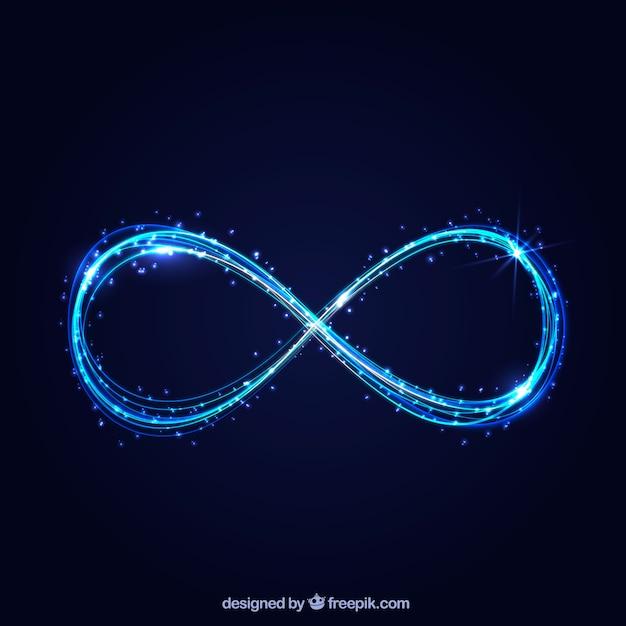 Simbolo di infinito con effetto incandescente Vettore gratuito