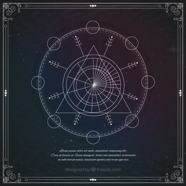 Simbolo geometrico astrologica Vettore gratuito