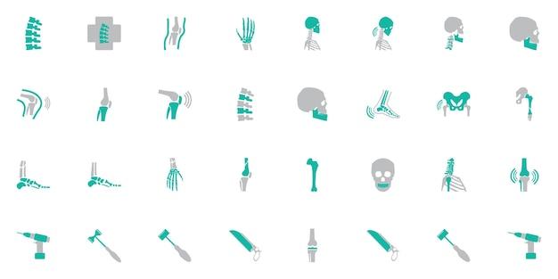 Simbolo ortopedico e colonna vertebrale Vettore Premium