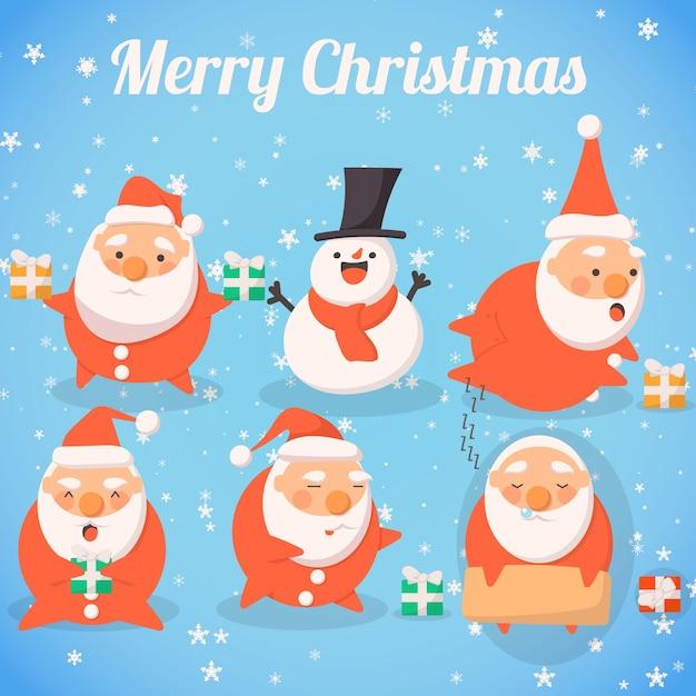 Immagini Simpatiche Babbo Natale.Simpatiche Collezioni Di Mascotte Di Babbo Natale