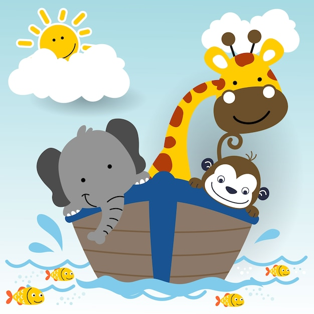 Simpatici animali in barca cartoni animati scaricare - Cartoni animati mare immagini ...