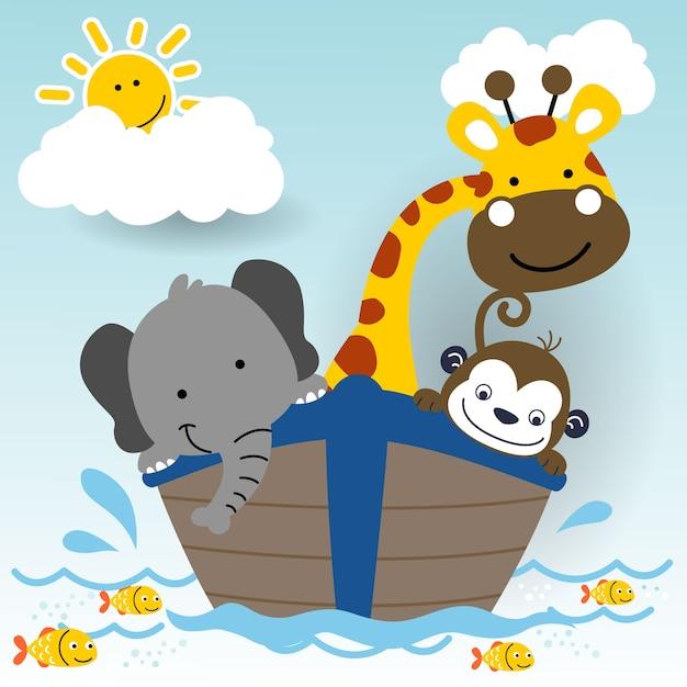 Simpatici animali in barca cartoni animati scaricare