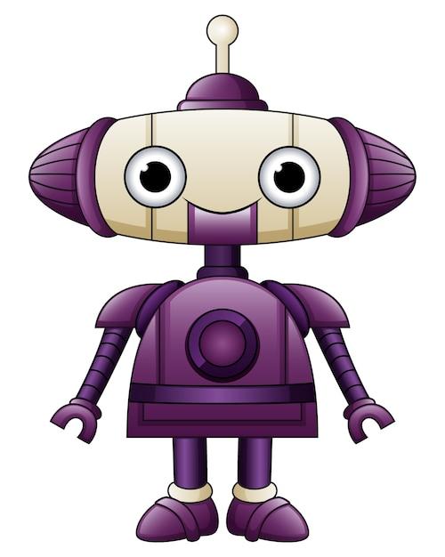 Simpatico cartone animato robot viola con antenne scaricare