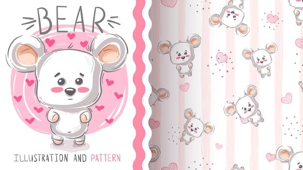 Simpatico orso polare Vettore Premium